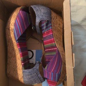 Colorful Toms Wedges